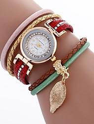 Mulheres Relógio de Moda Bracele Relógio Único Criativo relógio Chinês Quartzo PU Banda Boêmio Pendente Casual Elegantes Preta Branco
