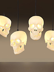 Halloween Skull Pendant Lamp 1 PCS Lamp Retro Art Creative Personality Restaurant Bar Clothing Store Lighting Lamps And Lanterns Of Northern Europe