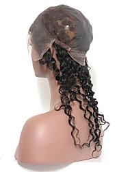 глубокие волны индийские девственные человеческие волосы 360 кружева фронтальное закрытие с крышкой полный кружево кружево круглый круг