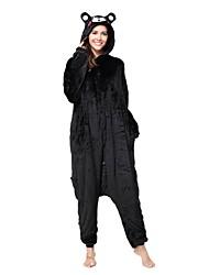 kigurumi Pyjamas Ours Collant/Combinaison Fête / Célébration Pyjamas Animale Halloween Noir Animal Kigurumi Pour Unisexe Halloween Noël