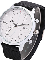 Hombre Reloj de Vestir Reloj de Moda Chino Cuarzo Calendario Tejido Banda Cool Casual Negro