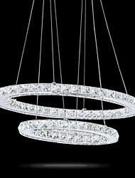 lampadaires à cristaux liquides à cristaux liquides modernes lampes lampadaires éclairage cristallin 2 anneaux intérieur éclairage en