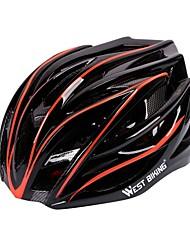 West biking Муж. Жен. Велоспорт шлем 27 Вентиляционные клапаны Велоспорт Велосипедный спорт Катание на лыжах Велоспорт М: 55-58CM