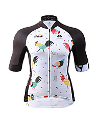 Cycling Jersey Women's Short Sleeves Bike Jersey Fast Dry Quick Dry High Elasticity YKK Zipper Stretchy Breathability PolyesterFashion