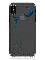 Назначение iPhone X iPhone 8 iPhone 8 Plus Чехлы панели Ультратонкий Прозрачный С узором Задняя крышка Кейс для Соблазнительная девушка
