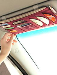 Солнцезащитный козырек Органайзеры для авто Назначение Универсальный Ткань