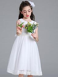 принцесса колено длина цветок девушка платье - кружевной сеткой без рукавов жемчужина шеи by baihe
