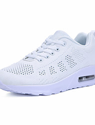 Women's Athletic Shoes Jelly Shoes Spring Summer Fall Winter Knit Tennis Shoes Athletic Casual Polka Dot Platform Gray Black White Flat
