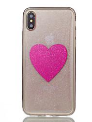 Para iPhone X iPhone 8 iPhone 8 Plus Carcasa Funda Traslúcido Diseños Cubierta Trasera Funda Corazón Suave Silicona para Apple iPhone X