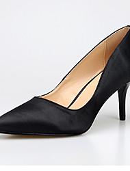 Damen Schuhe Seide Frühling Herbst Pumps High Heels Stöckelabsatz Spitze Zehe Für Normal Schwarz Gelb Blau