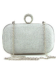 New Women's Fashion Leather/PU Formal Event/Party Wedding Evening Bag/Handbag/Clutch with Diamonds Black Gold Silver