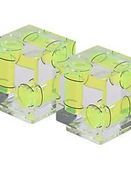 andoer 2-pack 3 ejes cámara de 3 dimensiones espíritu equilibrio de nivel de burbujas zapato caliente montaje para Canon nikon panosónico