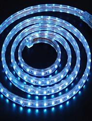 2m 220v brilhante LED faixa de luz flexível 5050 120smd três cristal luzes barra de luz à prova de água do jardim com plugue de
