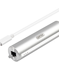 usb 3.0 type-c rj45 otg adaptador portátil de alta velocidad para macbook macbook pro 30 cm de aluminio