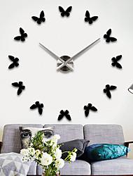 Модерн Азия Мода Настенные часы,Круглый Нержавеющая сталь + категория А (ABS) Смешанные материалы Применение В помещении Часы
