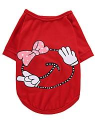 Chien Tee-shirt Gilet Vêtements pour Chien Soirée Anniversaire Décontracté / Quotidien Mariage Mode Noël Princesse Jaune Rouge Rose