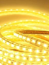 6m 220v higt brilhante levou faixa de luz flexível 5050 360smd três cristal luzes barra de luz à prova de água do jardim com plugue de