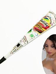 conos de henna arte carrocería kit de tatuaje temporal tinta mehandi Blanco Halloween 3pcs para la decoración de novia