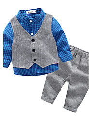 Baby Boys' Casual/Daily Lattice Clothing Set,Check Spring/Fall