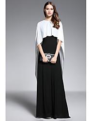 Fourreau / Colonne Bijoux Longueur Sol Spandex Robe de Mère de Mariée   -  Boutons par