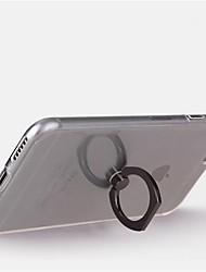 Назначение iPhone X iPhone 8 iPhone 8 Plus Чехлы панели Кольца-держатели Поворот на 360° Задняя крышка Кейс для Прозрачный Мягкий