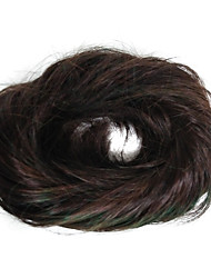 женская мода chigon булочка коричневого свадебного синтетического волокна hairpiece хорошее качество cosplay синтетическое наращивание