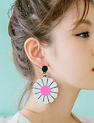 Mujer Niños Pendientes cortos Personalizado Estilo lindo China Forma de Flor Joyas Para Casual Discoteca