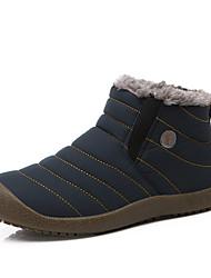 Unisex Schuhe PVC Herbst Winter Leuchtende Sohlen Stiefel Flacher Absatz Runde Zehe Booties / Stiefeletten Für Normal Dunkelblau Grau