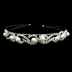 Women's Alloy / Imitation Pearl Headpiece-Wedding / Special Occasion Headbands Clear Square Cut