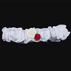 raso con ligas boda con las flores