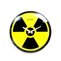 Kernstrahlung Zeichen Glas analogen Wanduhr