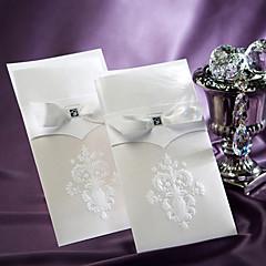 """לא מותאם אישית הזמנות ומעטפות הזמנות לחתונה לדוגמא הזמנה-1 יחידה / סט סגנון פורמלי / סגנון וינטג' / סגנון פרחוני נייר עם תבליטים8 ½""""×4 ½"""""""
