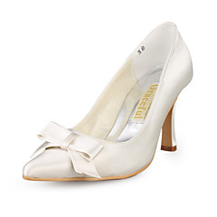 Satin Upper Stiletto Heel Pumps With Bowknot Wedding Shoes More Colors Available