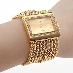 השעון של הנשים צמיד יהלומים בסגנון פרק כף היד (זהב)