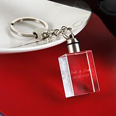 Cristal Favors Chaveiros Piece / Set Chaveiros Tema Clássico Personalizado Branco