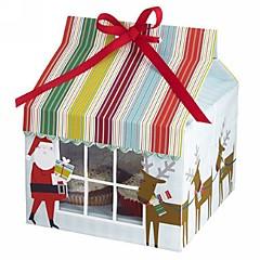 Santa Claus Cake Box (Set of 12)