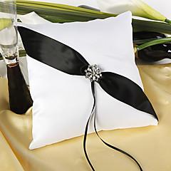 мерцающие сумерки свадьбы кольцо подушки в черно-белом