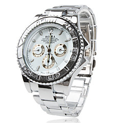 Men's Watch Dress Watch Fashionable Alloy Band Wrist Watch Cool Watch Unique Watch