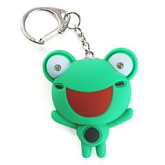Frosch Schlüsselanhänger mit LED-Taschenlampe und Sound-Effekte
