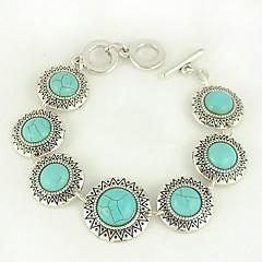 turkos och silverlegering sön charm växla armband