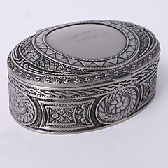 Personalized Vintage Tutania Oval Jewelry Box