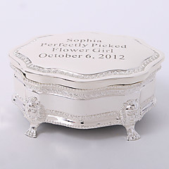 personalizado prateado tutania caixa de jóias delicadas