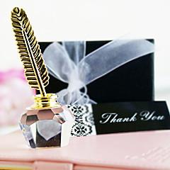 כלה שושבינה נערת פרחים נושא טבעת מתנות חתיכה / סט פריטי קריסטל קלסי חתונה יום שנה יומהולדת קריסטל פריטי קריסטל זהב קופסאת מתנה