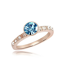 Ring Women's Crystal Rose Gold Plated Rose Gold Plated Nature 6 / 7 / 8 GoldColor & Style representation may vary by monitor. Not