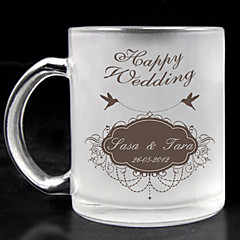 personalizado vidro fosco - casamento feliz