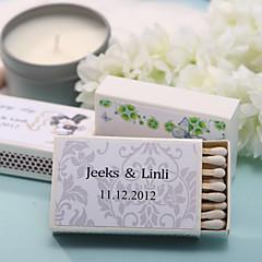 Karton Wedding Decorations-12piece / Set Gepersonaliseerd Lucifers niet inbegrepen.