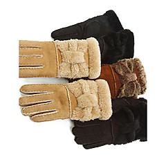 Wrist Length Fingertips Glove Leather Party/ Evening Gloves / Winter Gloves Spring / Fall / Winter Bow