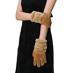 Wrist Length Fingertips Glove Leather Party/ Evening Gloves Winter Gloves Spring Fall Winter Bow