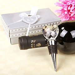 "Crystal Chrome Bottle Favor-1Piece/Set Bottle Stoppers Classic Theme Non-personalised Silver 4 3/4"" x 1 1/4"" x 1 3/4"" (12x3x4cm)Gift box"