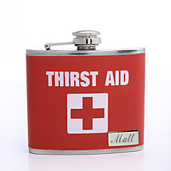 Gift Groomsman Personalized 5-oz Flask - First Aid